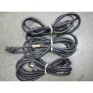 N/A - Computer Power Cord - Lot of 3 Computer Power Cord, Detachable; 10 A; Plug; SJT; 2 m; 0.315 in. (Nom.); 1250 W; 125 V